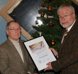 Ernennung von Peter Kretschmer zum Ehrenmitglied - Foto: Peter Mahnke
