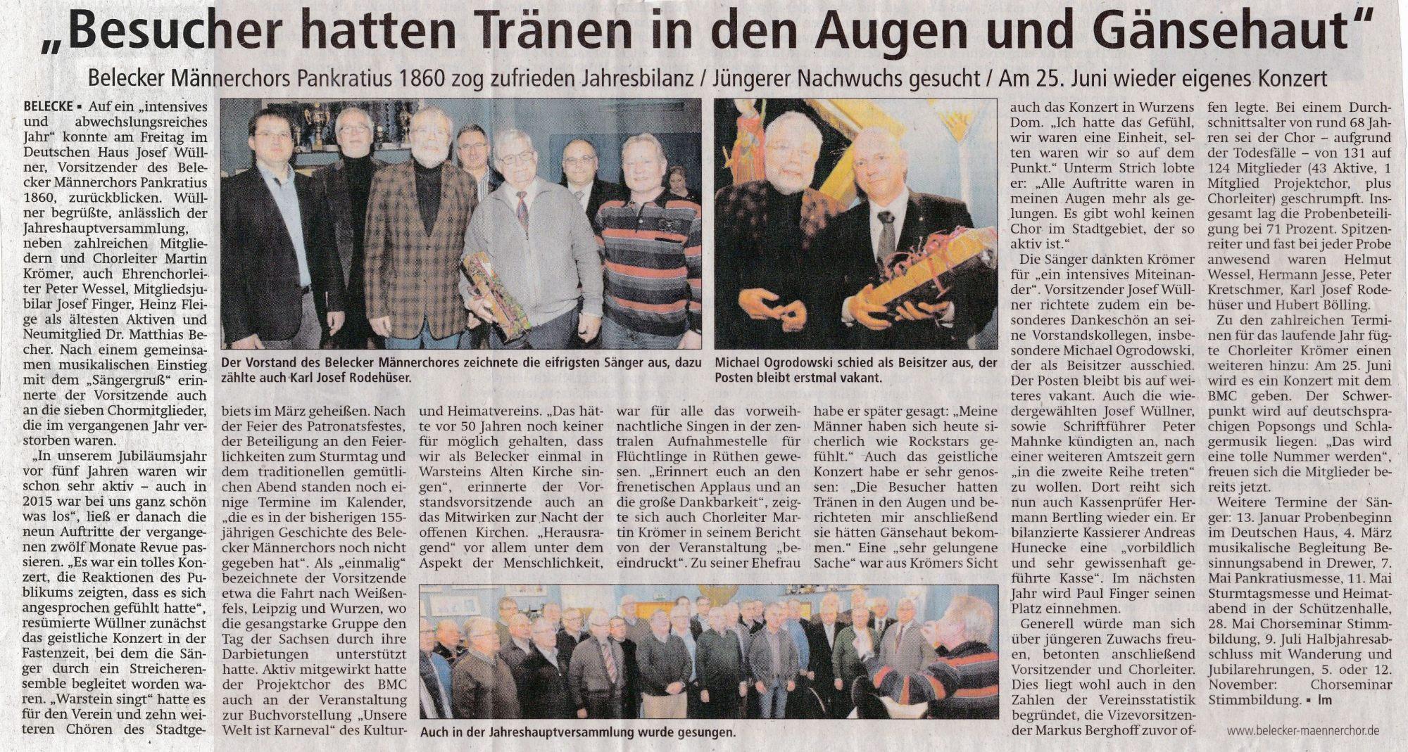 Berichterstattung: Soester Anzeiger - Gabriele Schmitz